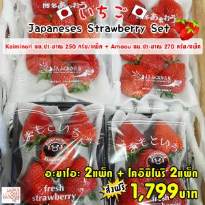 Amaou + Koiminori Strawberry