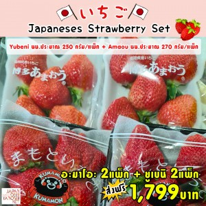 Amaou + Yubeni Strawberry